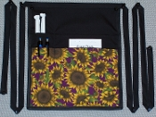 Plum Sunflowers Side Apron