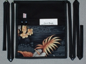 Black Palm Side Apron